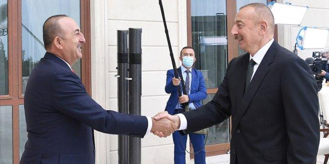 Azerbaycan Cumhurbaşkanı Aliyev, Dışişleri Bakanı Çavuşoğlu'nu kabul etti