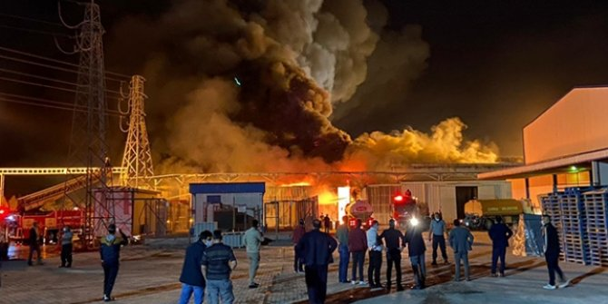 Konya'da şeker fabrikasında yangın