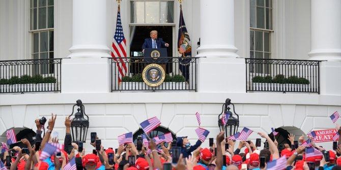 Trump etkinliğe katıldı ortalık karıştı