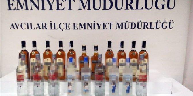 İstanbul'da sahte içki operasyonunda 3 şüpheli gözaltına alındı