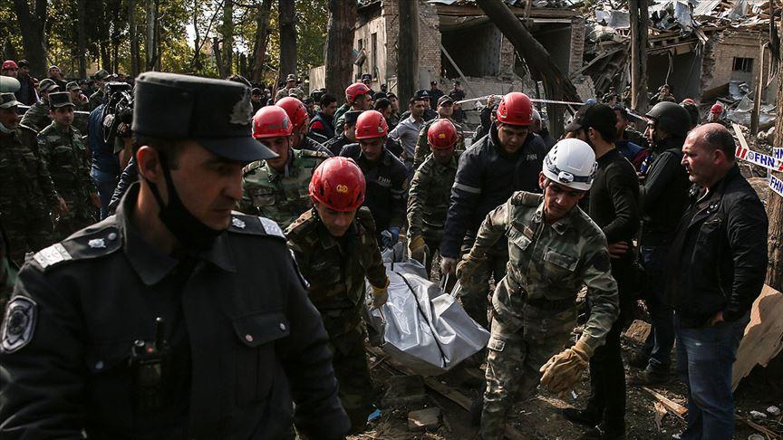 Ermenistan'ın Gence'ye düzenlediği saldırıda can kaybı 10'a çıktı