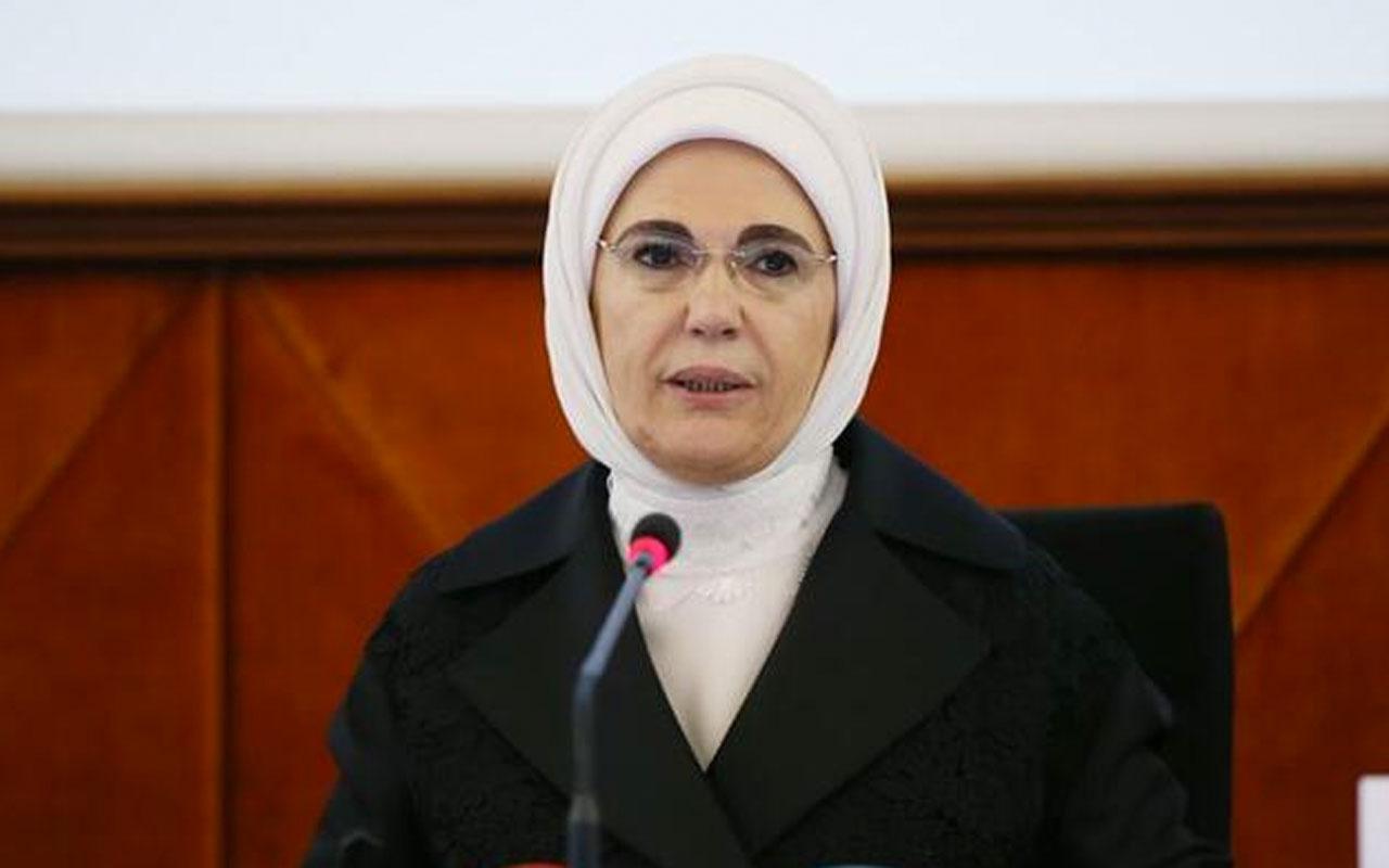 Emine Erdoğan 'Her ev bir okul olsun' kampanyasına 100 bilgisayar bağışladı
