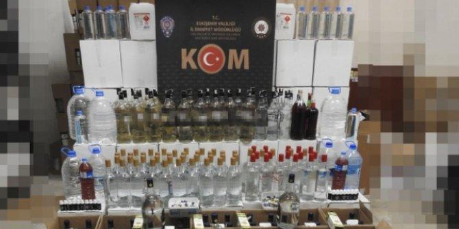 Eskişehir'de 477 litre sahte içki ele geçirildi