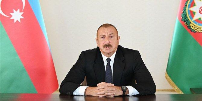 Azerbaycan Cumhurbaşkanı Aliyev: Ermenistan'ın namert hareketleri Azerbaycan halkının iradesini kıramayacak