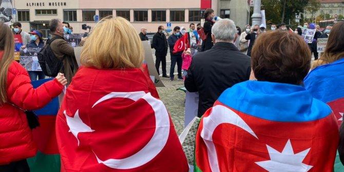 İsviçre'de bebek katili Ermenistan protesto edildi