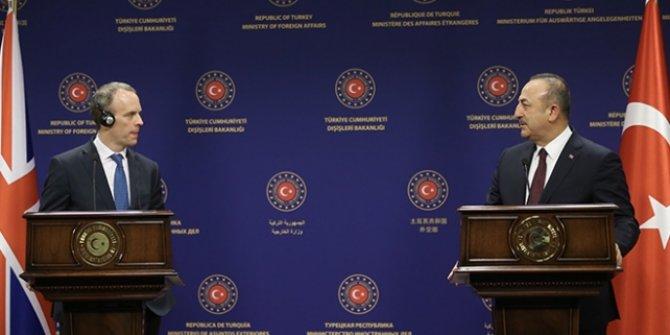 Dışişleri Bakanı Çavuşoğlu, İngiltere Dışişleri Bakanı Raab ile görüştü