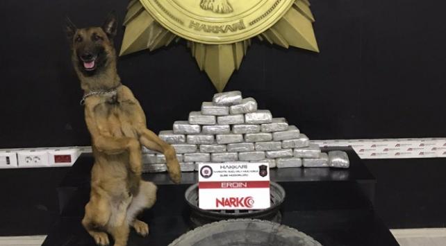 Hakkari'de 32 kilogram uyuşturucu madde ele geçirildi
