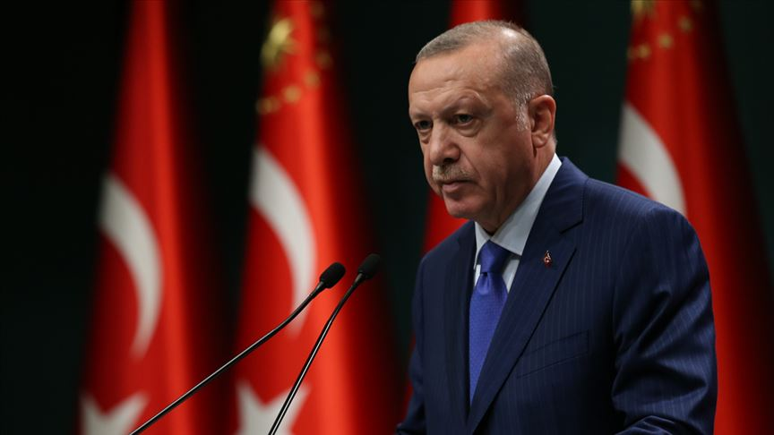 Erdoğan: Türkiye, sınırlarının dibinde terör bataklığına asla izin vermeyecek