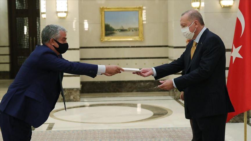 Danimarka Büyükelçisi Annan, Cumhurbaşkanı Erdoğan'a güven mektubu sundu