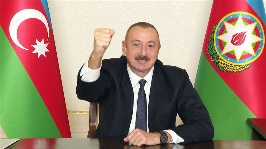 Aliyev: Tüm tarihi eserlerimiz devlet tarafından korunmaktadır