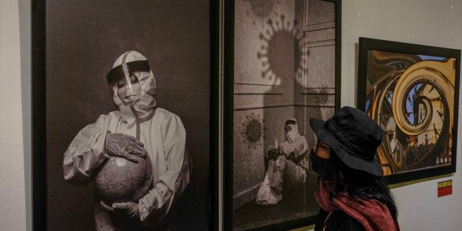 Koronavirüs görsel sanat sergisi açıldı