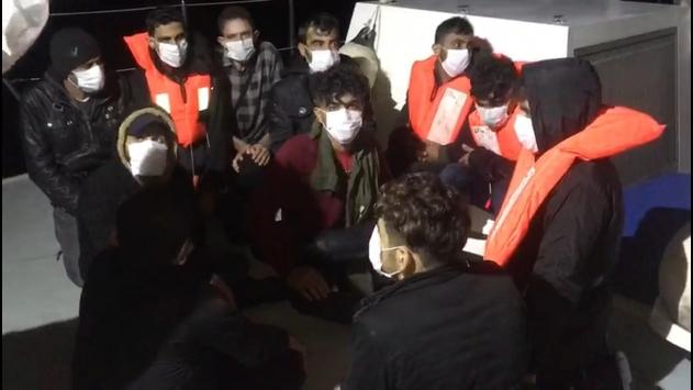 Mersin açıklarında 19 düzensiz göçmen kurtarıldı
