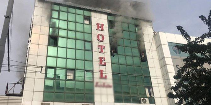 Şanlıurfa'da bir otelde yangın çıktı