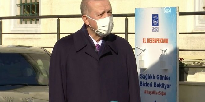 Cumhurbaşkanı Erdoğan Cuma Namazının Ardında Açıklamalarda Bulundu