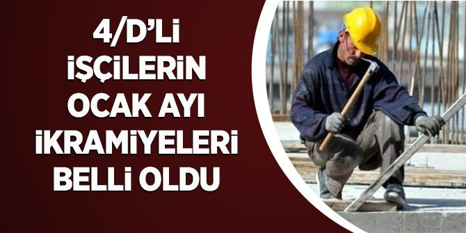 4/D'li işçilerin Ocak ikramiyeleri hesaplandı