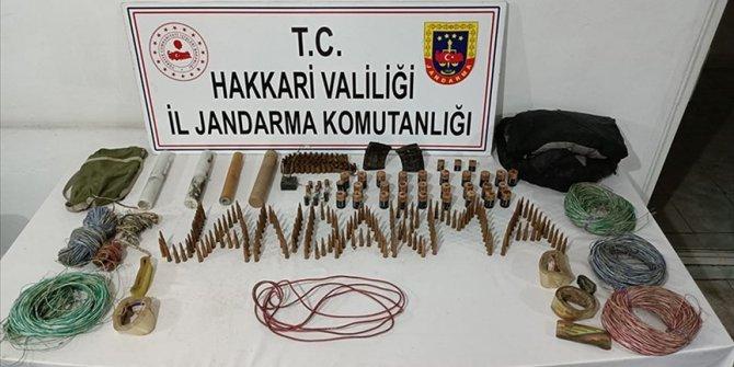 Hakkari'de PKK'ya yönelik operasyonlarda mühimmat ele geçirildi