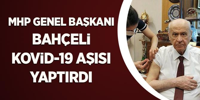 MHP Genel Başkanı Bahçeli Kovid-19 aşısı yaptırdı
