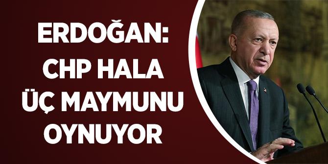 Erdoğan: CHP Hala Üç Maymunu Oynuyor