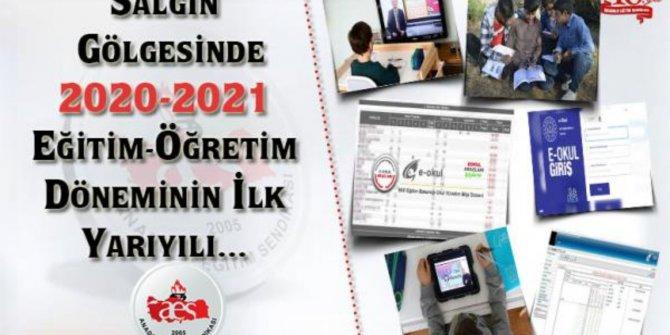SALGIN GÖLGESİNDE 2020-2021 EĞİTİM-ÖĞRETİM DÖNEMİNİN İLK YARIYILI