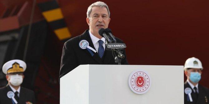 Bakan Akar: Yunanistan'la yapacağımız görüşmelerle meselelerin hukuk çerçevesinde ele alınmasını umuyoruz