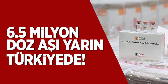 İnaktif aşıların 6,5 milyon dozu yarın sabah Türkiye'de olacak