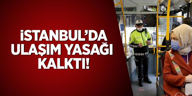 İstanbul'da ulaşım yasağı kalktı