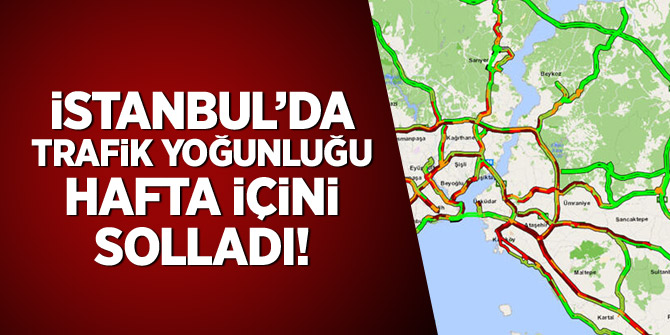 Kısıtlama kaldırıldı! İstanbul trafik hafta içini geçti