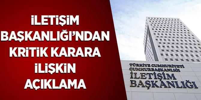 İletişim Başkanlığı İstanbul Sözleşmesinin Feshine Dair Açıklama Yaptı