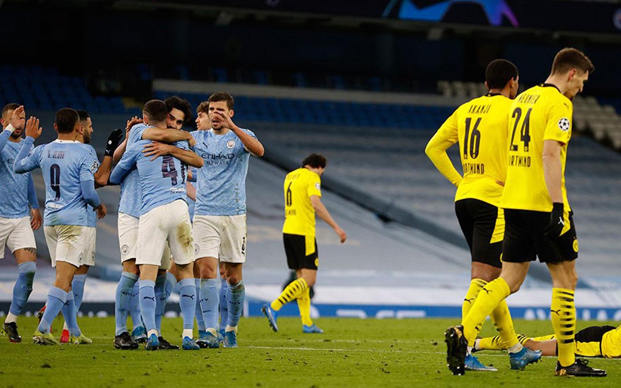 Manchester City, Borussia Dortmund'u rahat geçti