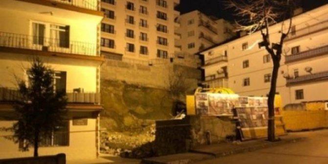 Çökme tehlikesi nedeniyle 21 bina boşaltıldı, 2 kişi gözaltına alındı