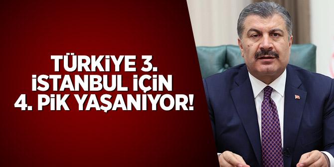 Bakan Koca: Türkiye için 3. İstanbul için 4. pik yaşanıyor