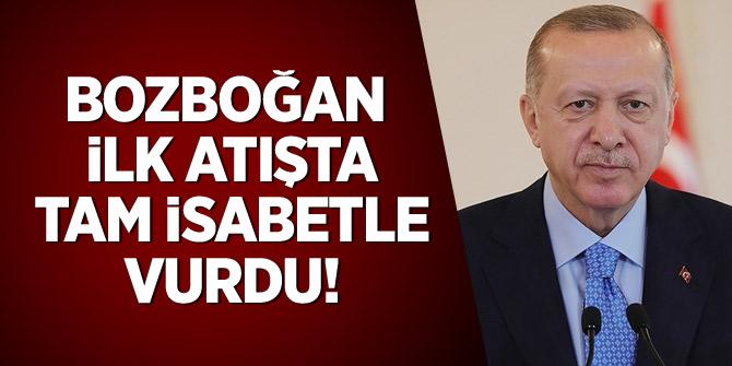 Erdoğan: Bozdoğan füzesi ilk atışta hedefi tam isabetle vurdu