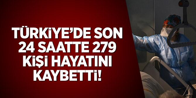 Türkiye'de son 24 saatte 279 kişi hayatını kaybetti