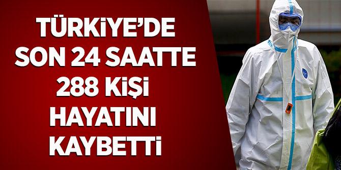 Türkiye'de Son 24 Saatte 288 Kişi Hayatını Kaybetti