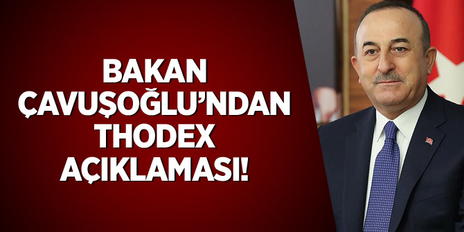 Bakan Çavuşoğlu'ndan Thodex açıklaması