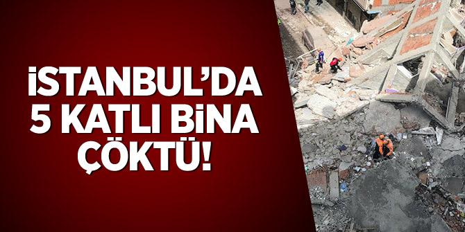 İstanbul'da 5 katlı bina çöktü!