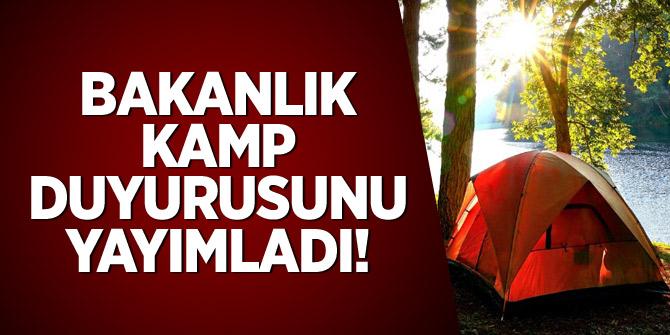 Tarım ve Orman Bakanlığı kamp duyurusunu yayımladı
