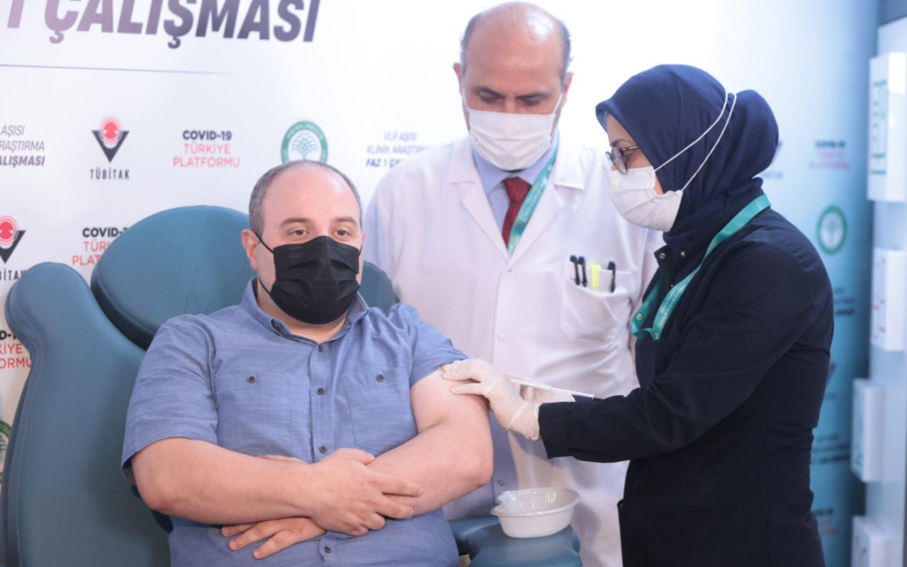 Bakan Varank yerli aşının ikinci dozunu oldu
