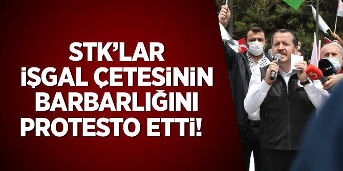 STK'lar işgal çetesinin barbarlığını protesto etti!