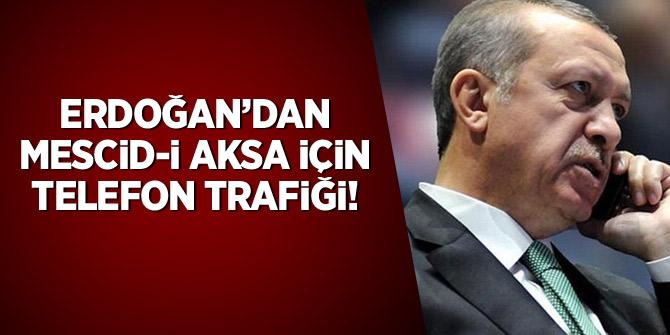 Erdoğan'dan Mescid-i Aksa için telefon trafiği