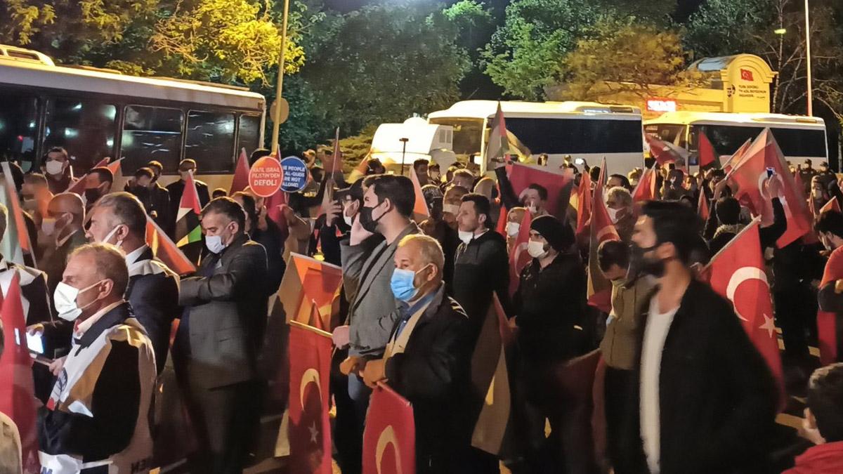 Ankara'da İsrail protestosu: 'Kahrolsun İsrail, işbirlikçi ABD'