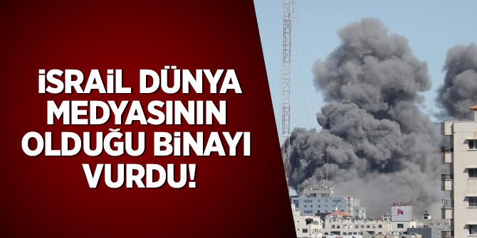 İsrail, dünya medyasının olduğu binayı vurdu