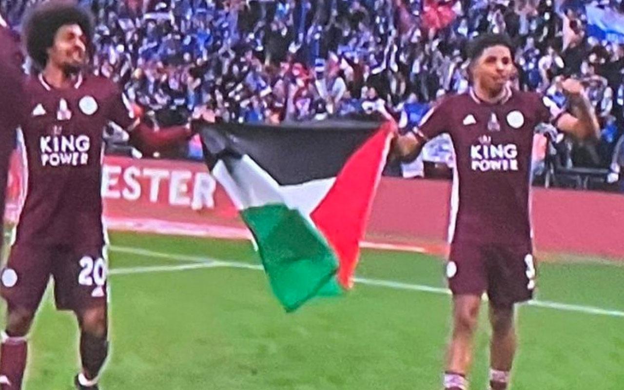 Leicester City'den Filistin bayrağıyla kutlama