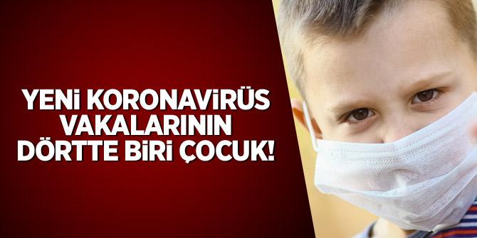 Yeni koronavirüs vakalarının dörtte biri çocuk
