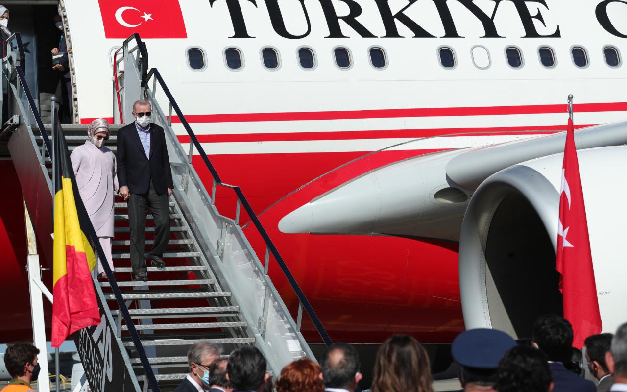 Cumhurbaşkanı Erdoğan'a Belçika'da sevgi gösterisi