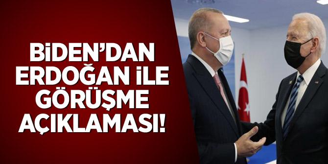 Biden'dan Erdoğan ile görüşme açıklaması