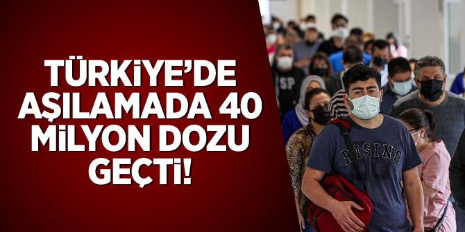 Türkiye aşılamada 40 milyon dozu geçti