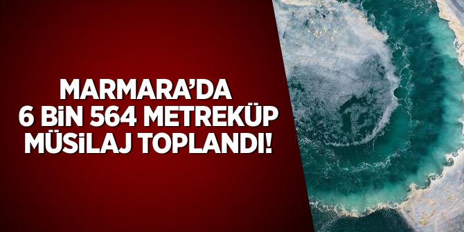 Marmara'da 6 bin 564 metreküp müsilaj toplandı
