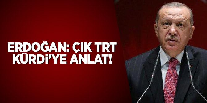Cumhurbaşkanı Erdoğan: Çık, TRT Kürdi'ye anlat
