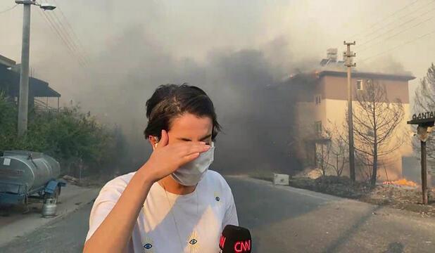 CNN Türk ekibi, Manavgat'ta alevlerin içinde kaldı